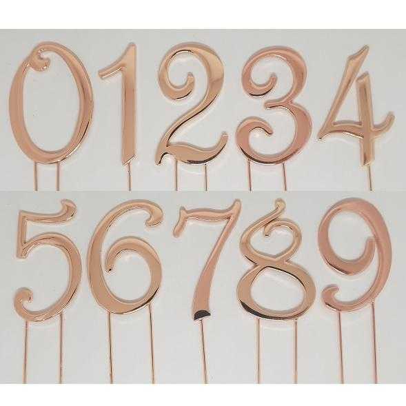 Rose Gold Number Cake Topper