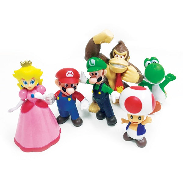 Super Mario Brothers Cake Topper Set