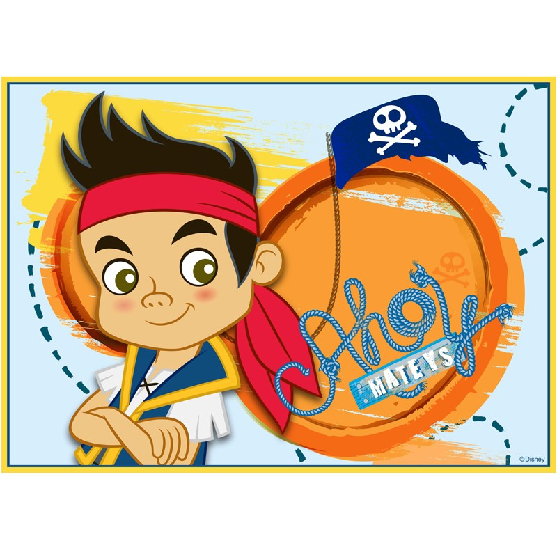 Jake and the Never Land Pirates Edible Cake Image - A4 Size