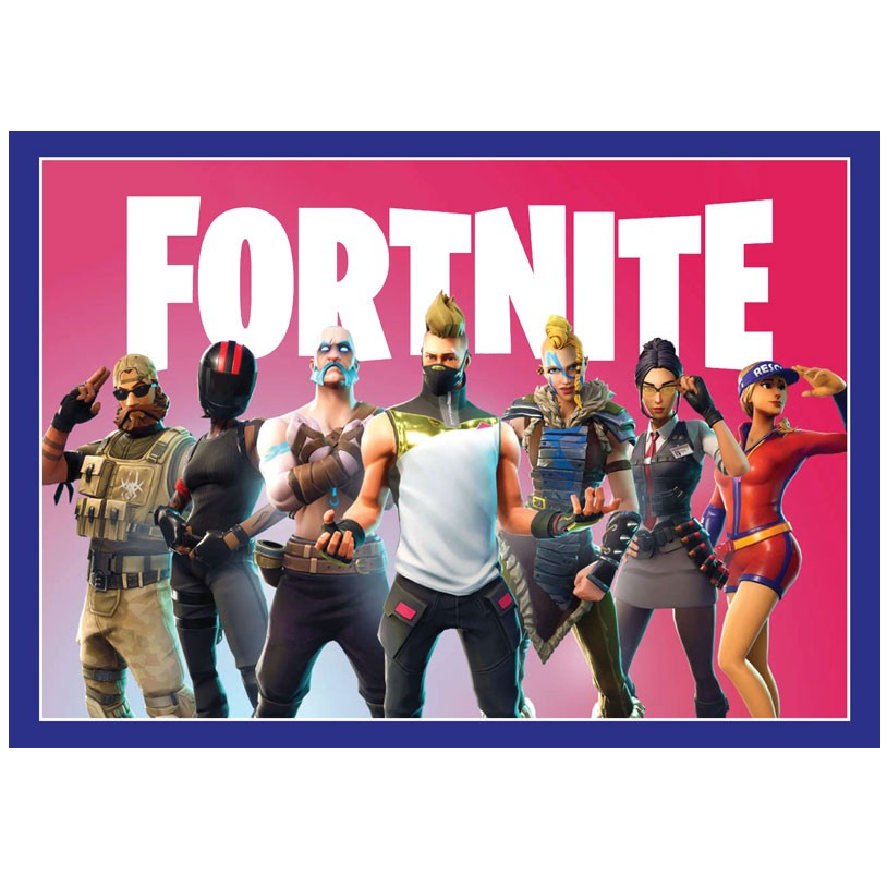 Fortnite Edible Cake Image - A4 Size