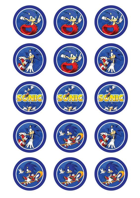 Sonic the Hedgehog Edible Cupcake Images