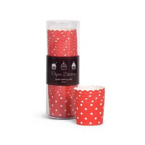 Paper Eskimo Red Stars Cupcake Papers