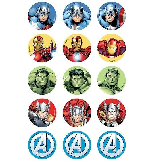 Avengers Edible Cupcake Images