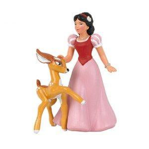 Snow White and Fawn Cake Topper
