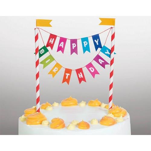 Happy Birthday Bunting Cake Topper