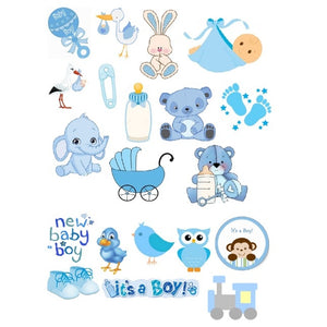 Boy Baby Shower Edible Icons