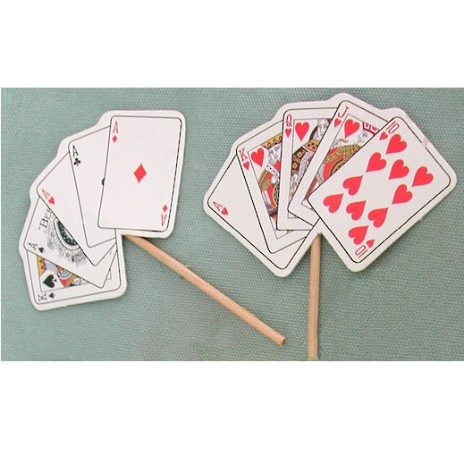 Playing Cards Cupcake Toppers
