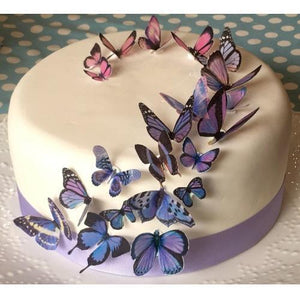 Sweet Whimsy Purple Butterfly Edible Images