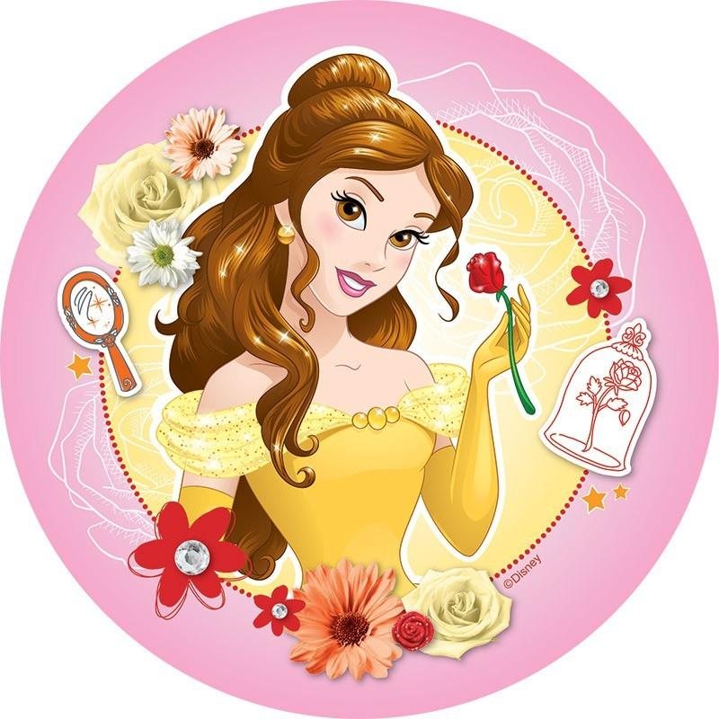 Disney Princess Belle Edible Cake Image
