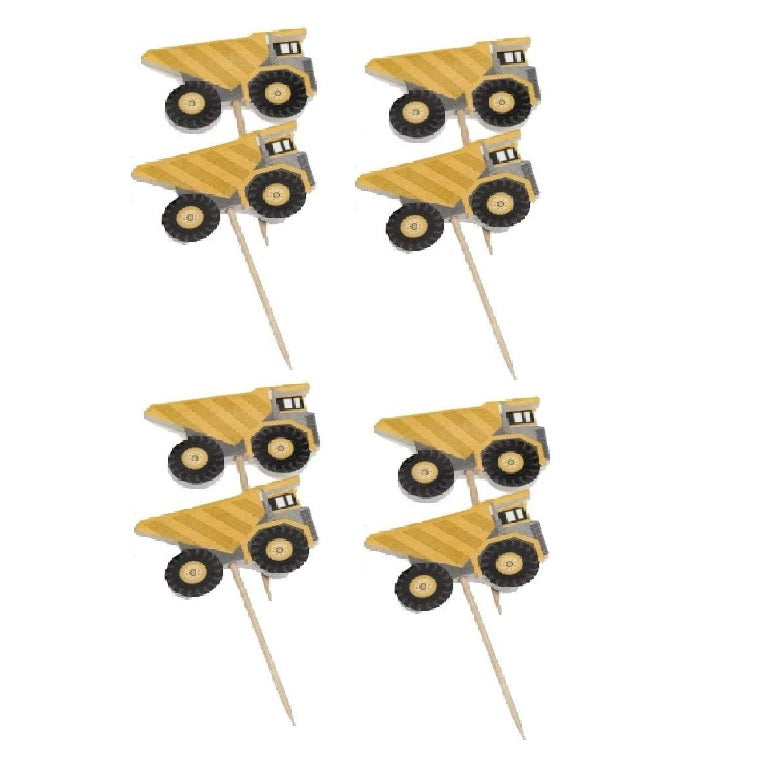 Construction Dump Truck Cupcake Toppers | Roberts Confectionary