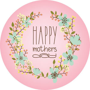 Happy Mothers Day Edible Cake Image