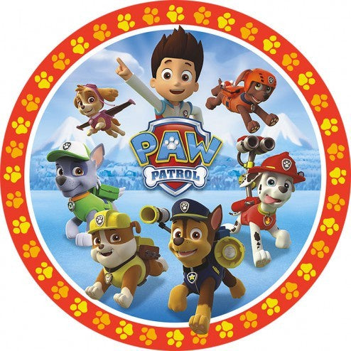Paw Patrol Group Edible Cake Image