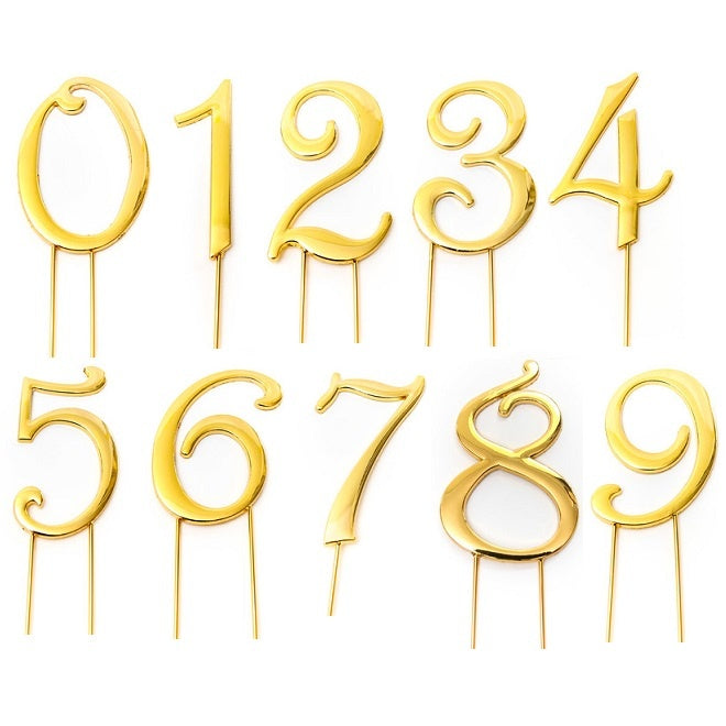 Gold Number Cake Topper