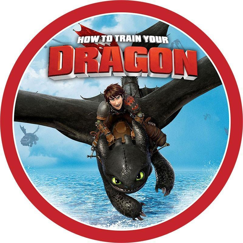 How to Train Your Dragon Edible Cake Image
