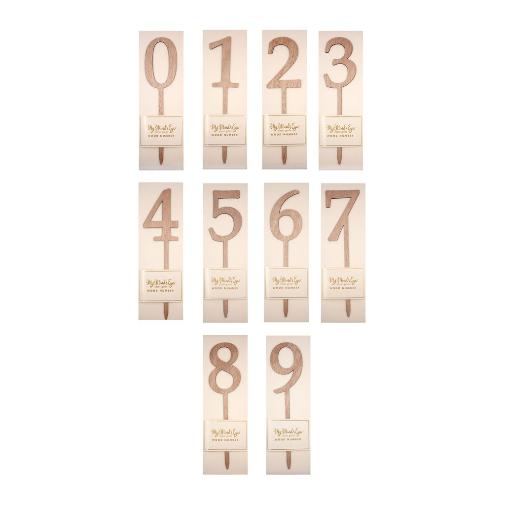 My Mind's Eye Wooden Number Cake Topper