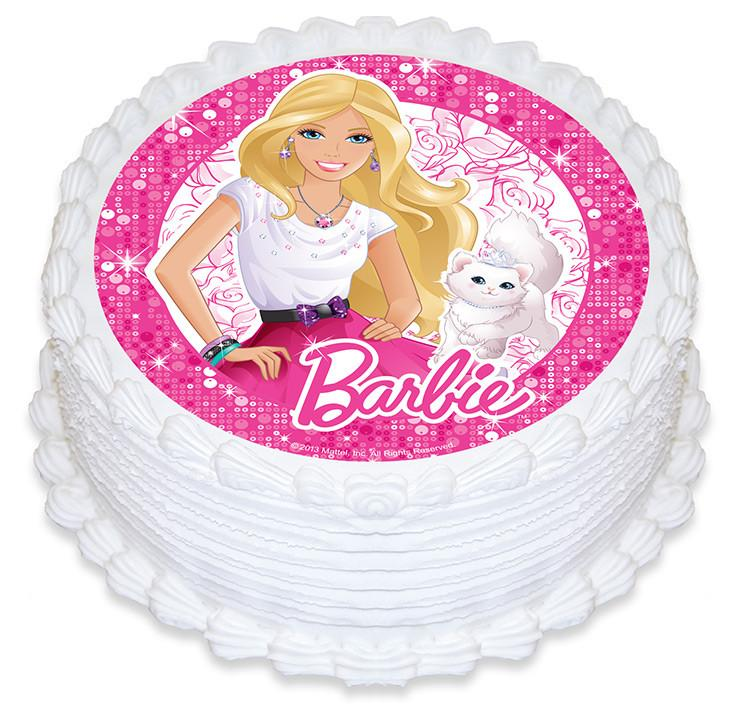 Barbie Wishes Edible Cake Image
