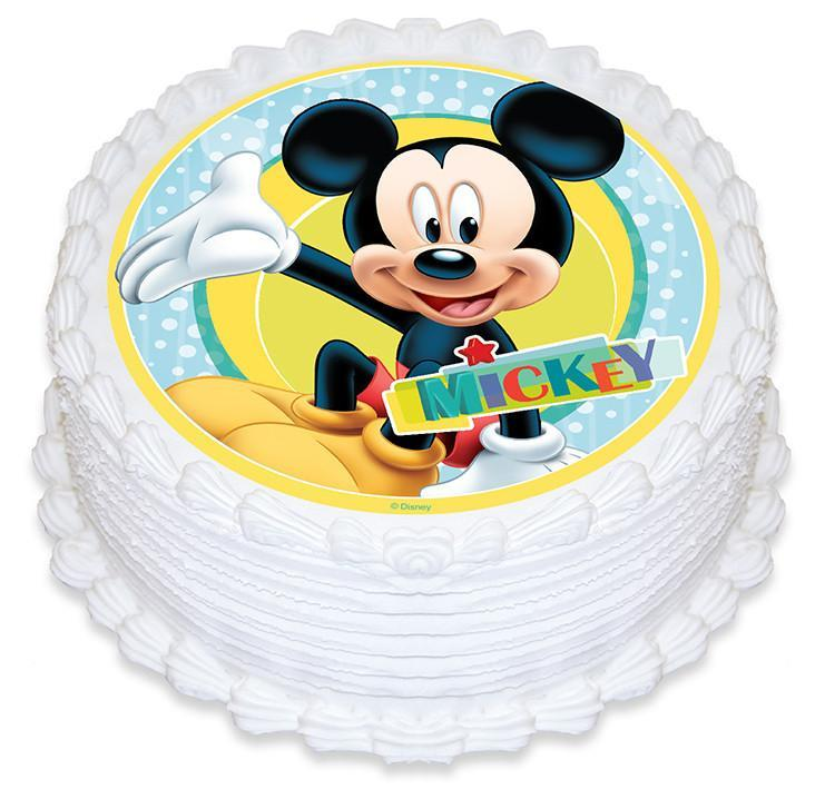 Mickey Mouse Edible Cake Image