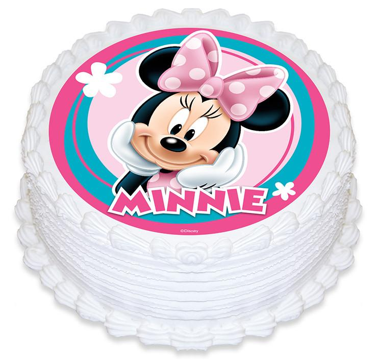 Minnie Mouse Edible Cake Image