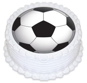 Soccer Ball Edible Cake Image