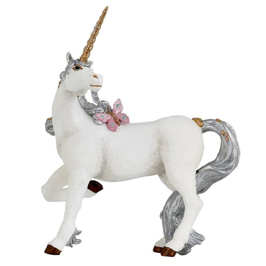 Silver Unicorn Cake Topper