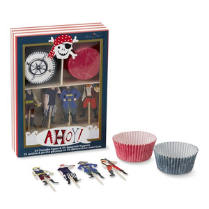Meri Meri Ahoy! Pirate Cupcake Kit | Pirate Party Theme & Supplies