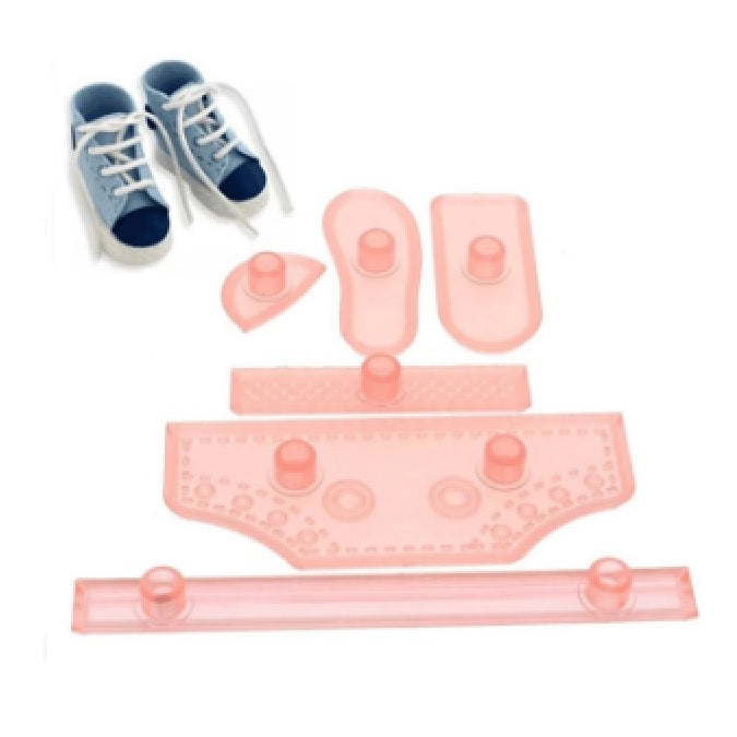 Baby Shower Shoe Fondant Cutter Set