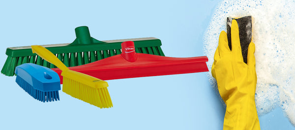 Safe cleaning and why colour-coded cleaning tools are key.