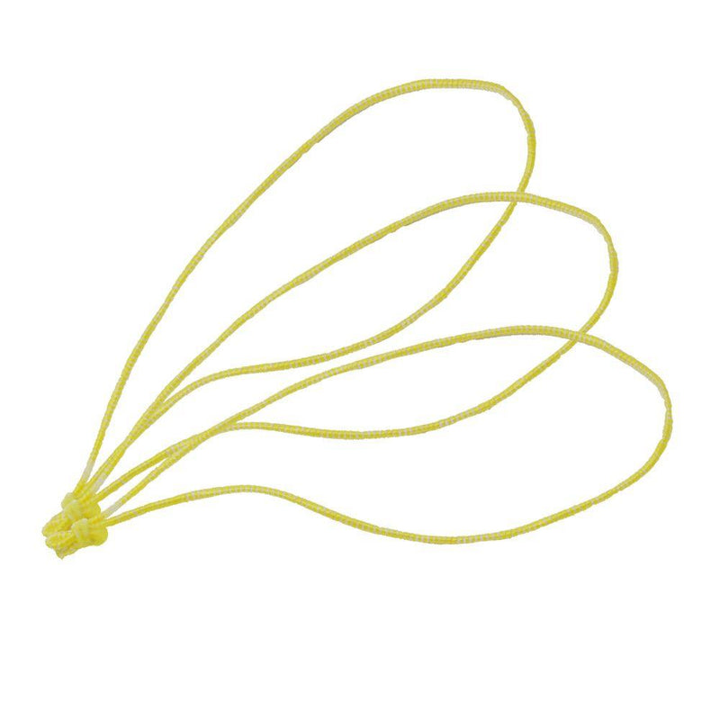 TruNet 11cm Poultry Loops Yellow/White Elasticated Polyester Meat Ties. From £29.50 per 5000
