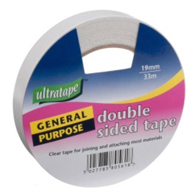 Clear 33m general purpose double sided tape by Ultratape.