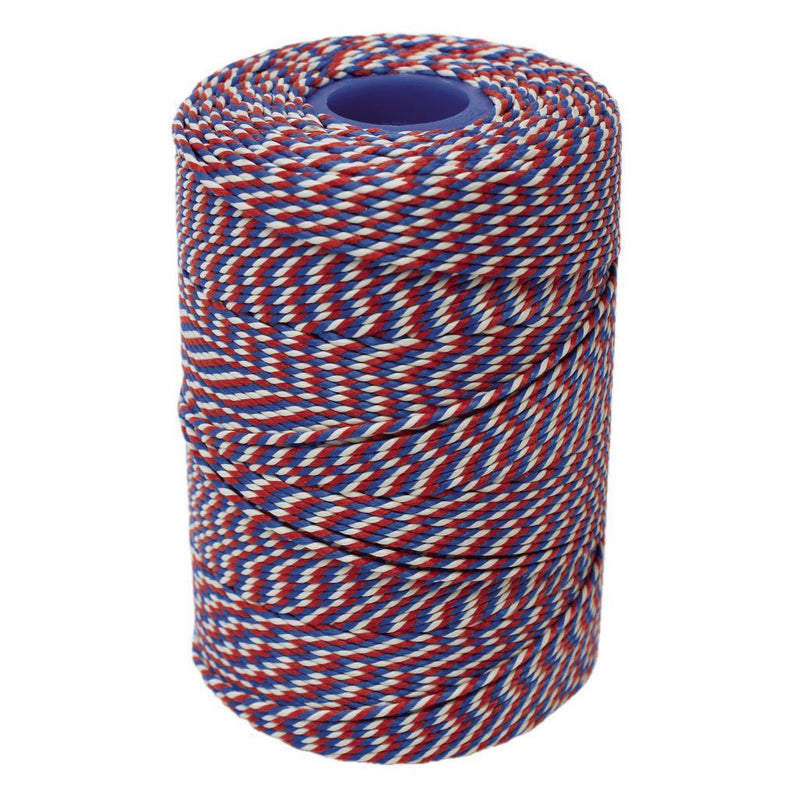 Rayon No 5 Red, White & Blue Butchers String/Twine  Size in 260m (500g). From £6.60 per Spool