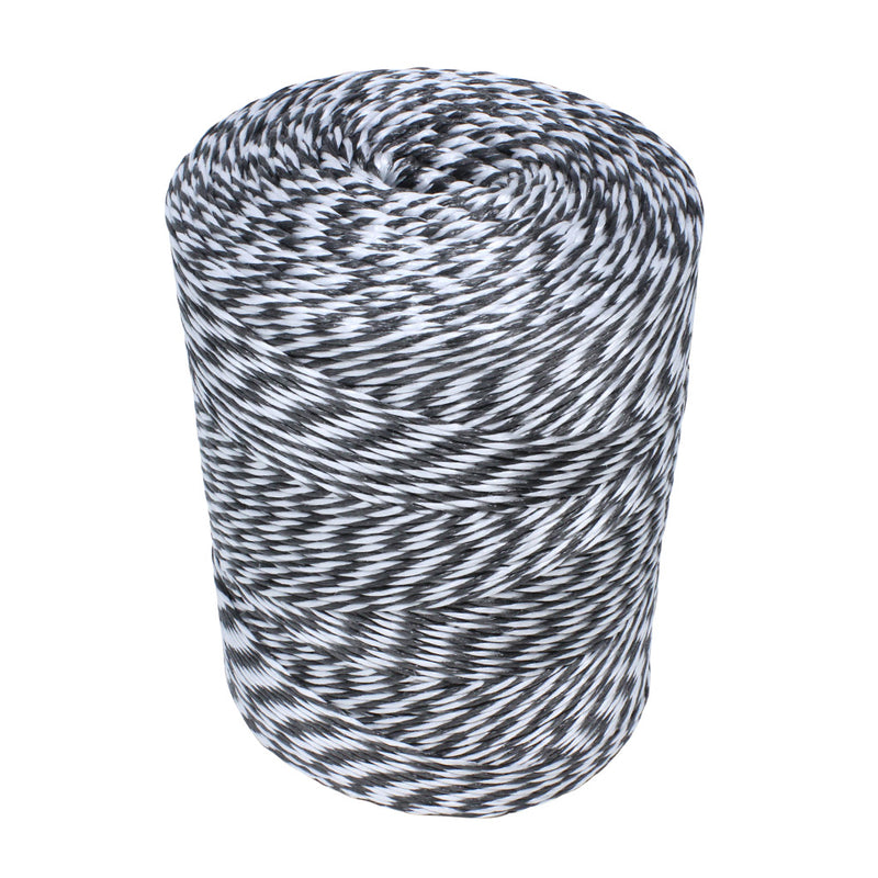 2mm Black and White Polypropylene Rope - 2.5kg Spool
