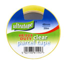 48mm x 50m Heavy-Duty Clear Parcel Tape - Pack of 6
