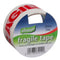 50mm x 33m Red/White 'FRAGILE' Tape - Pack of 6