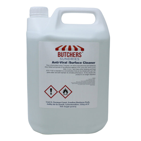 Anti-Viral/Anti-Bacterial Surface Cleaner and Sanitiser - 5ltr