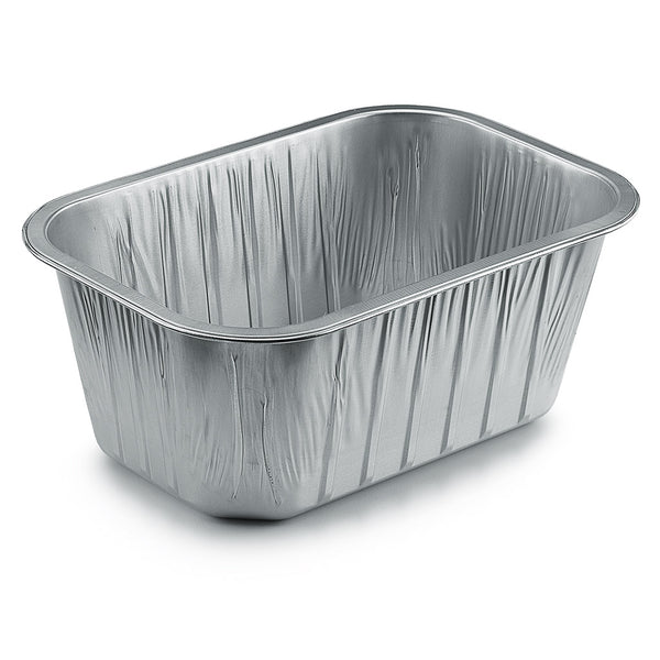 Single aluminium foil tray.