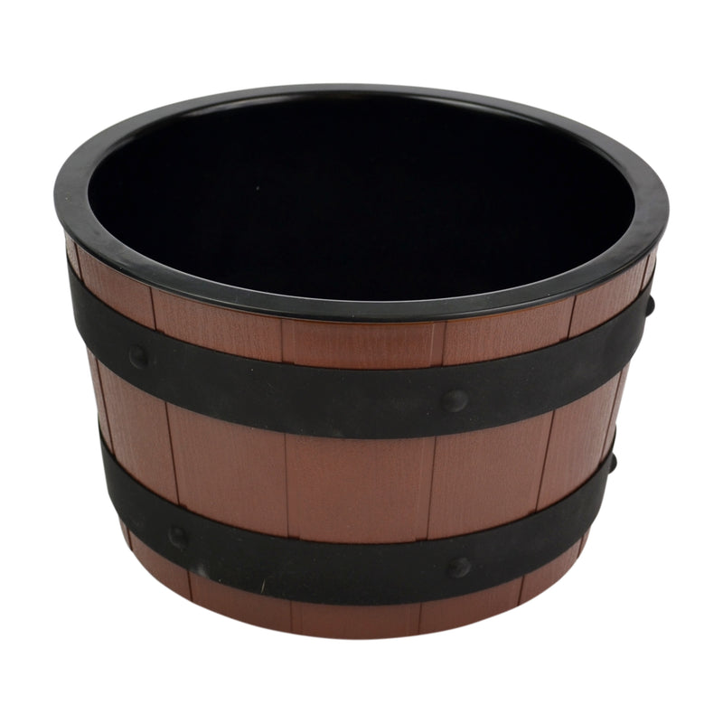 4.5L Barrel Bowl Set with Plain Melamine Insert