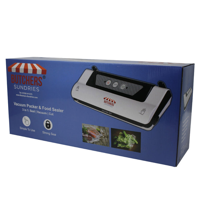 Butchers Sundries Domestic Vacuum Sealer/Packing Machine with Embossed Bags