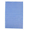 Individual blue gingham duplex sheet.