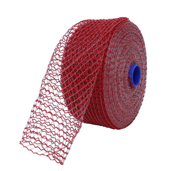 TruNet 125mm 16sq Red/Clear Bacon Small Net - 50m Roll