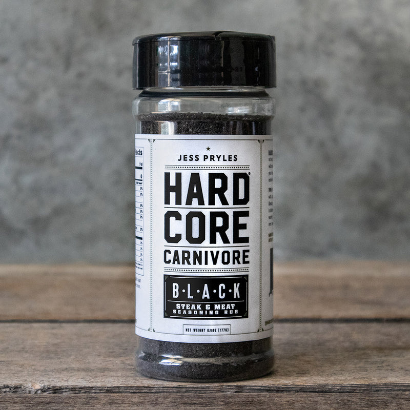 Black Shaker Jar – A Steak and Meat Seasoning Rub