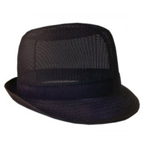 Black Nylon Trilby Hat - Medium