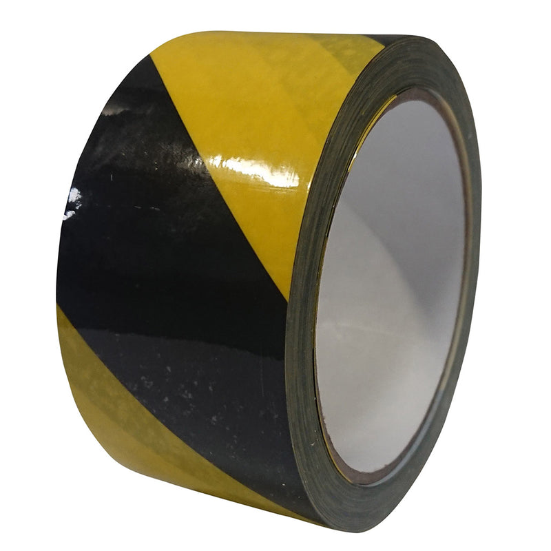 Hazard Stripe Black/Yellow Tape - 48mm x 33m