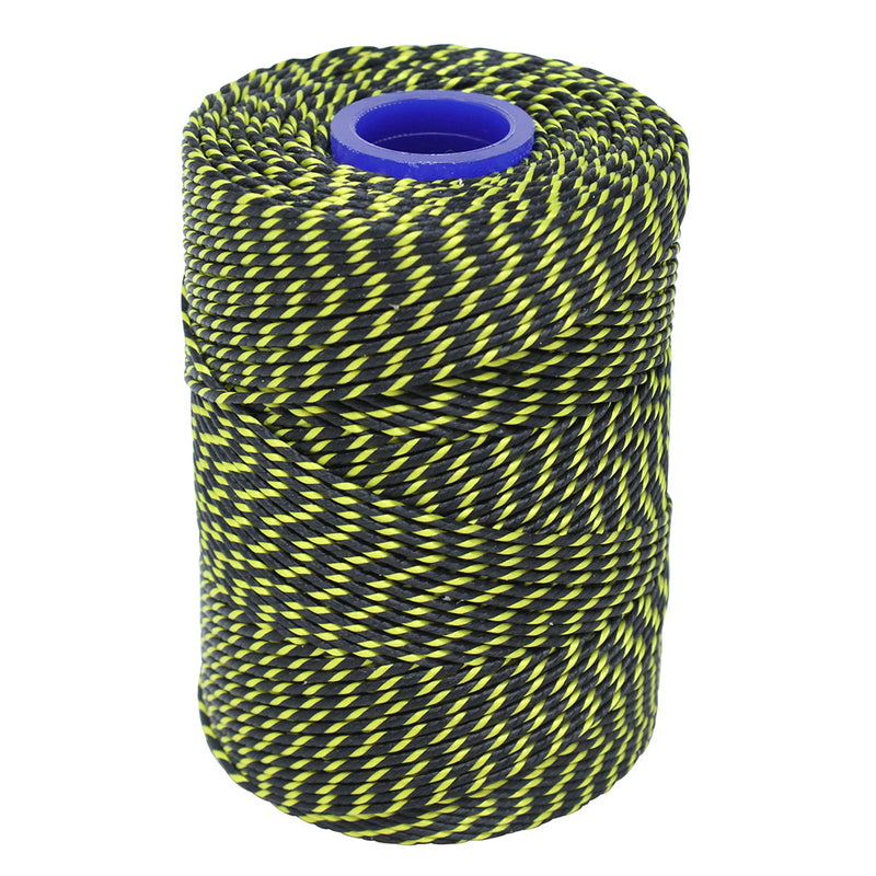Polyester Black & Yellow Butchers String/Twine  Size in 100m (225g). From £4.00 per Spool