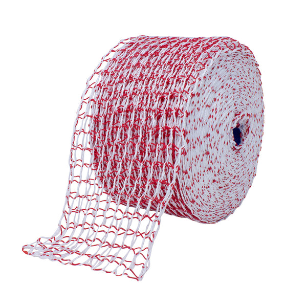 TruNet 200mm 48sq Red/White Classic Roast Net - 100m Roll
