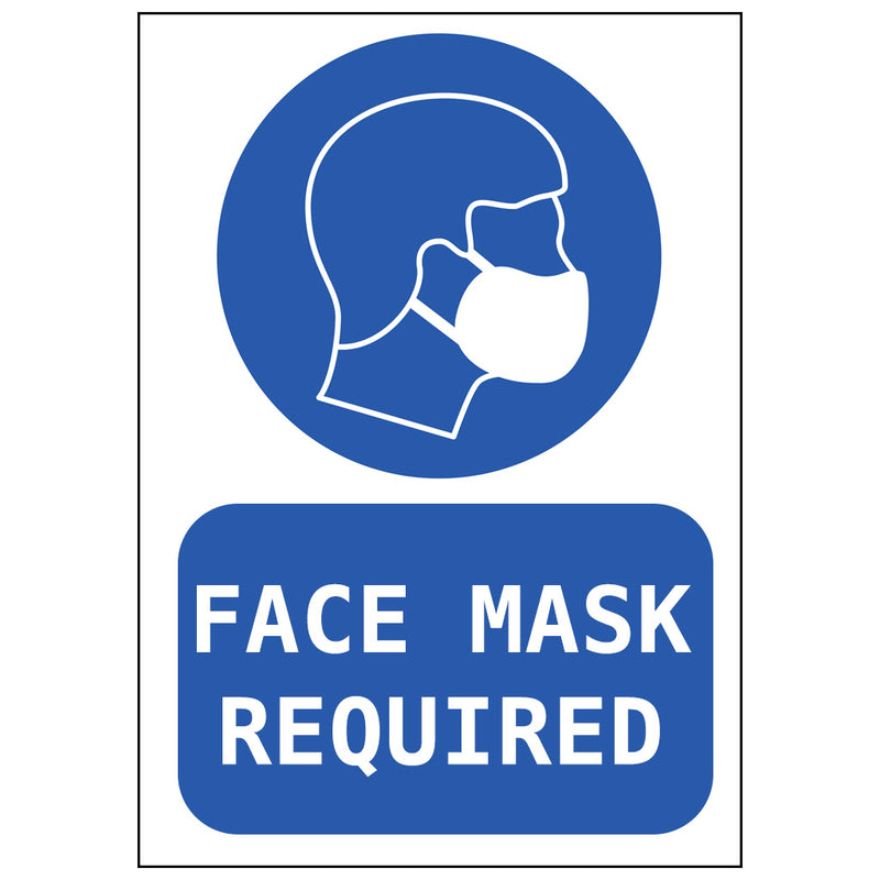 'Face Mask Required' Side-Facing Poster