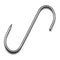 10'' S Butchers Meat Hanging Hooks - Single Hooks