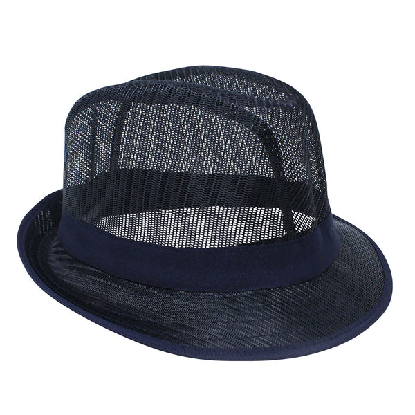 Blue Nylon Trilby Hat - Large