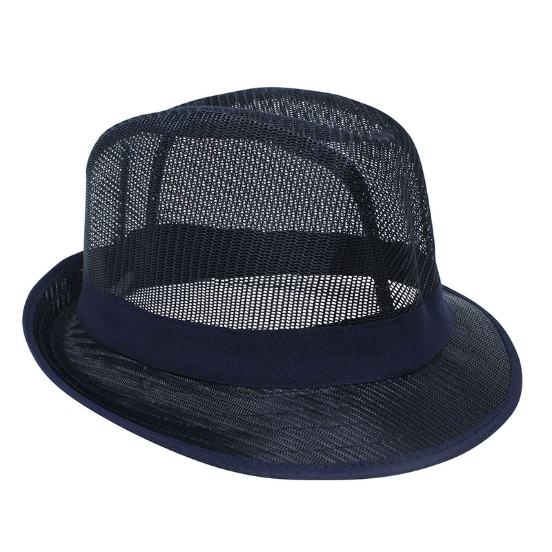 Blue Nylon Trilby Hat - Small