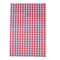 Individual red gingham duplex sheet.