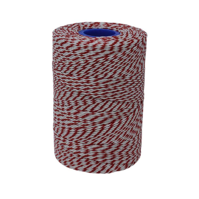 6T Rayon Red/White Butchers String / Twine Size in 330m (400g). From £5.17 per spool